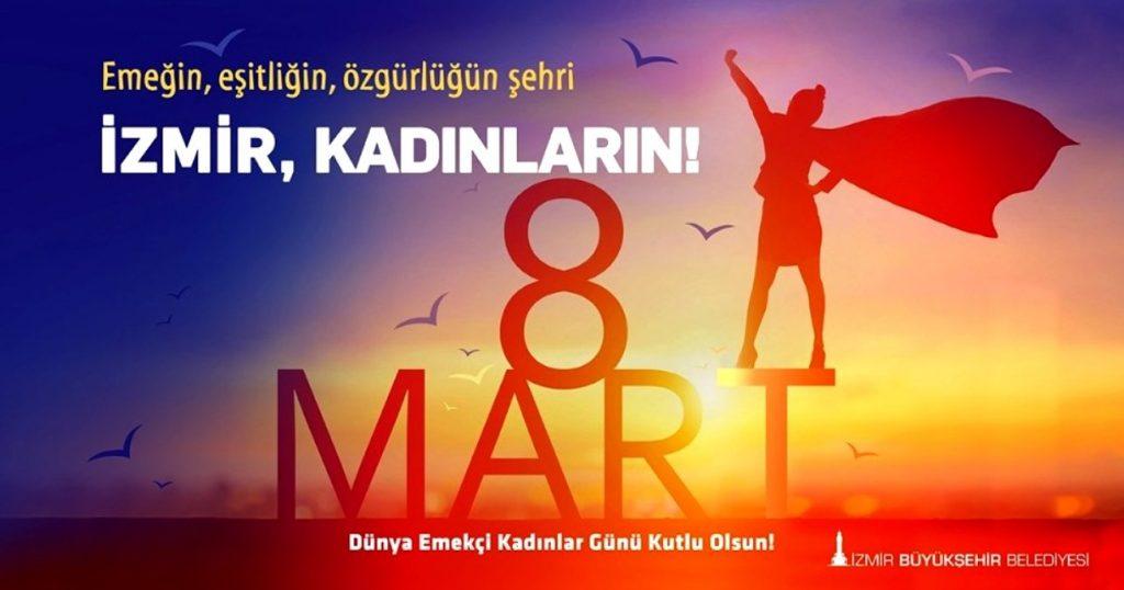 مراسم روز جهانی زنان در ازمیر ۲۰۲۰